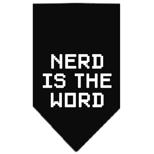 Nerd is the Word dog bandana black