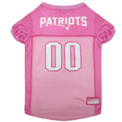 New England Patriots NFL Dog Jersey Pink