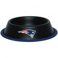 New England Patriots NFL Stainless Black Dog Bowl