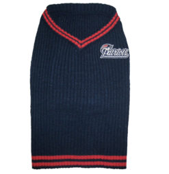 New England Patriots NFL dog sweater
