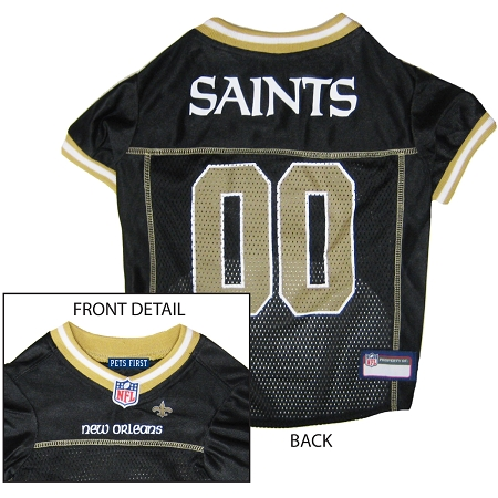 New Orleans Saints dog jersey NFL