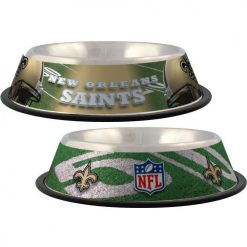 New Orleans Saints NFL dog stainless bowl