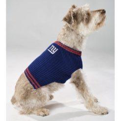 New York Giants turtleneck dog sweater on pet