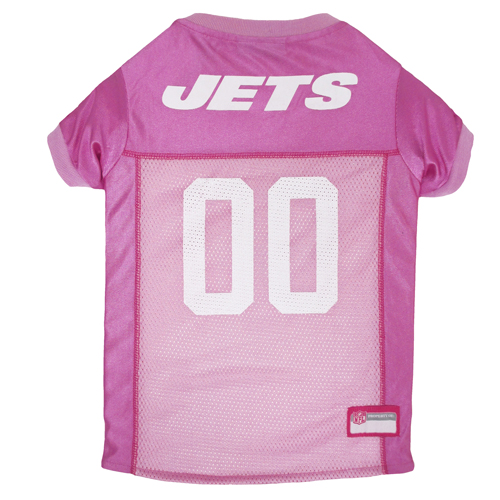 New York Jets Pink NFL Dog Jersey