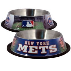 New York Mets Stainless Dog Bowl