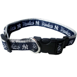 New York Yankees MLB nylon dog collar