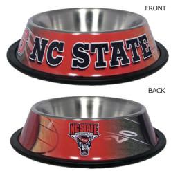 North Carolina State Stainless dog bowl