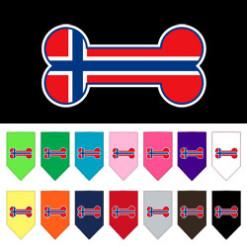 Norway flag dog bone bandana