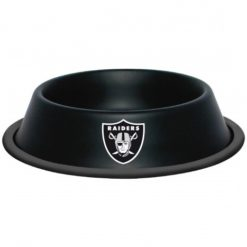 Oakland Raiders NFL Stainless Dog Bowl
