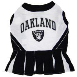 Oakland Raiders NFL dog cheerleader dress