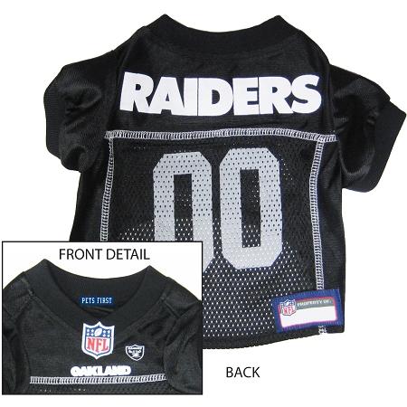 Oakland Raiders NFL dog jersey