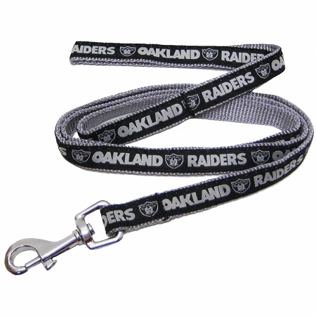 Oakland Raiders NFL nylon dog leash