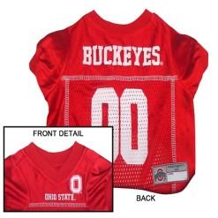 Ohio State Buckeyes NCAA dog jersey