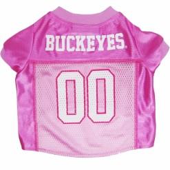 Ohio State Buckeyes pink NCAA dog jersey