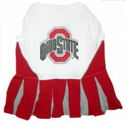 Ohio State NCAA cheerleader dog dress
