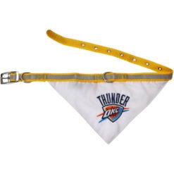 Oklahoma City Thunder NBA Dog Bandana and Collar opened