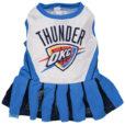 Oklahoma City Thunder NBA Dog Cheerleader Dress front