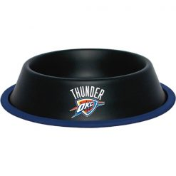 Oklahoma City Thunder Stainless Dog Bowl