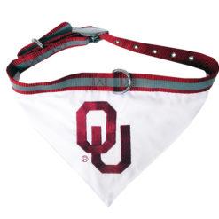 Oklahoma Sooners Dog Bandana and Collar