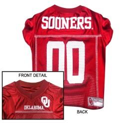 Oklahoma Sooners NCAA dog jersey