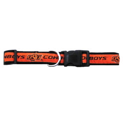 Oklahoma State Cowboys NCAA adjustable dog collar