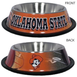 Oklahoma State Cowboys NCAA dog stainless bowl