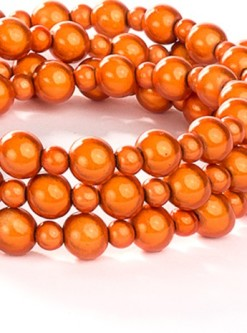 Orange Fabuleash Lumi Bead Dog Leash