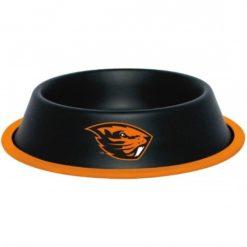 Oregon Beavers NCAA Stainless Black Dog Bowl