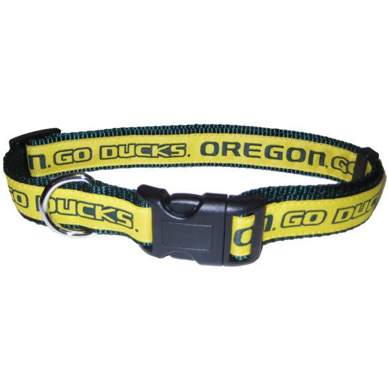 Oregon Ducks NCAA nylon adjustable dog collar