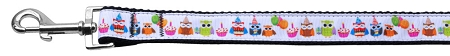 Partying Owls Birthday Dog Leash