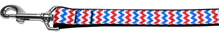 Patriotic Red White and Blue Chevron Dog Leash