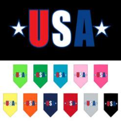 Patriotic USA stars dog bandana