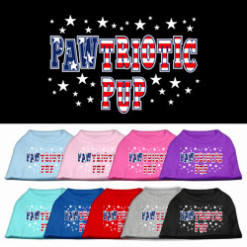 Pawtriotic Pup Stars Screenprint t-shirt sleeveless dog multi-colors