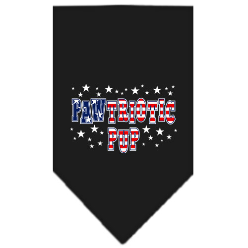 Pawtriotic Pup stars dog bandana black