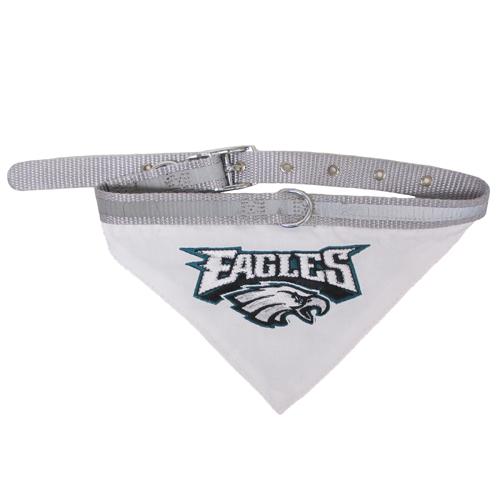 Philadelphia Eagles Nylon NFL Dog Collar and Bandana