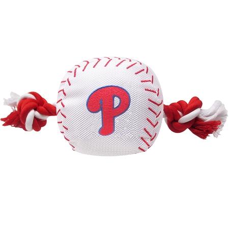 Philadelphia Phillies baseball dog rope toy