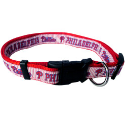 Philadelphia Phillies nylon adjustable dog collar