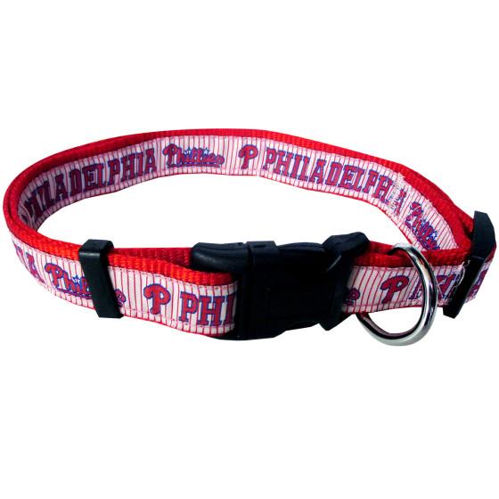 Philadelphia Phillies nylon adjustable dog collar