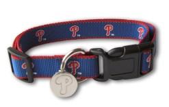 Philadelphia Phillies reflective dog collar with ID Tag