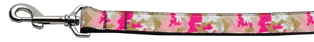 Pink Camouflage Dog Leash