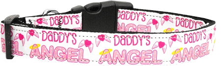 Pink Daddy's Girl Adjustable dog collar