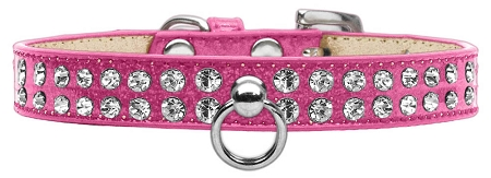 Pink Dog Collar with Czech Crystals