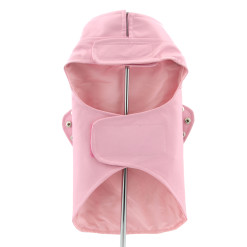 Pink Motorcycle Dog Jacket back view