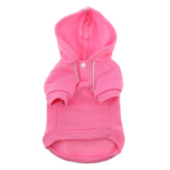 Pink Sport Dog Hoodie front
