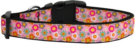 Pink Spring Flowers Adjustable Dog Collar
