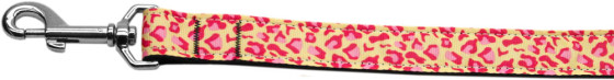 Pink and Tan Leopard Print dog leash