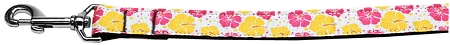 Pink and Yellow Hibiscus Flower Dog Leash