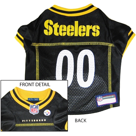 Pittsburgh Steelers NFL dog jersey