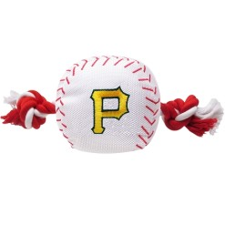 Pittsburgh Pirates MLB dog ball and rope toy