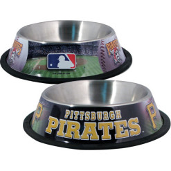 Pittsburgh Pirates Stainless dog bowl